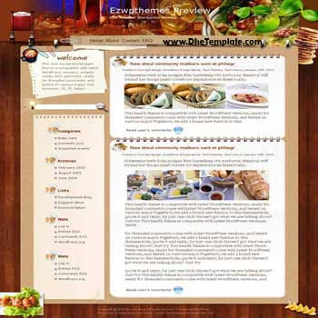 Hunger Always blogger template. template blogger for food blog