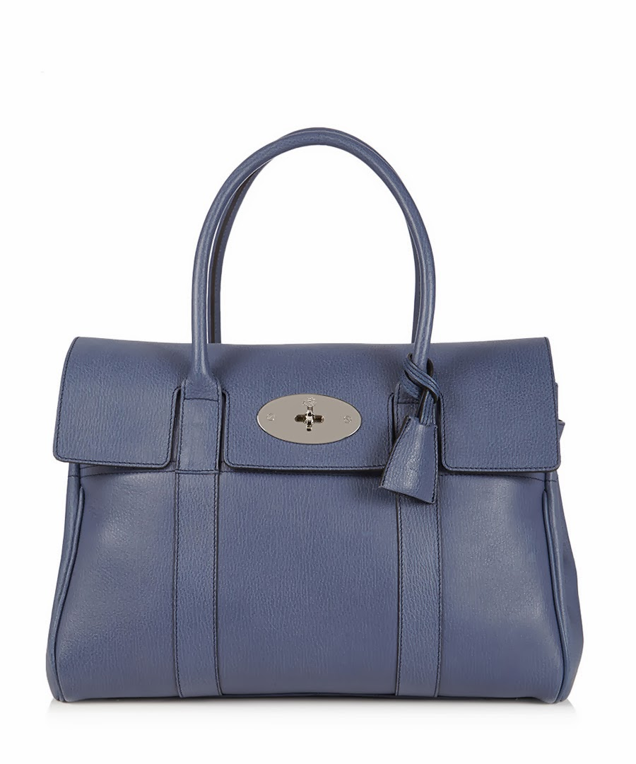 Mulberry Slate Blue Bayswater Tote