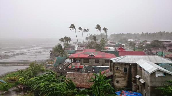 Typhoon Ruby situation Calbayog, Samar