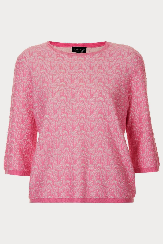 topshop pink top