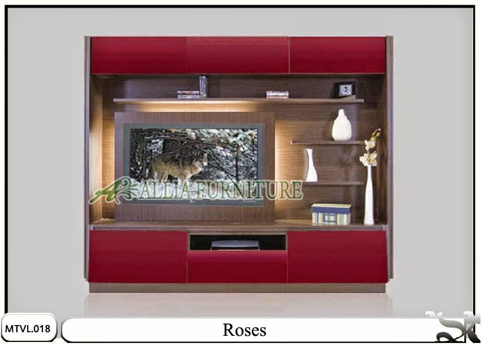 Lemari tv lcd desain minimalis Roses