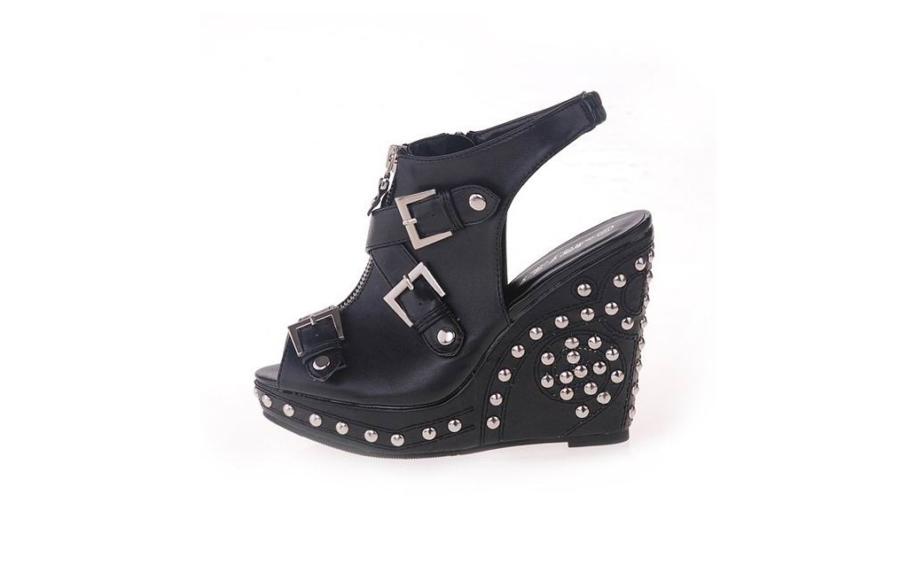 motte preorder the givenchy inspired studded wedge boots