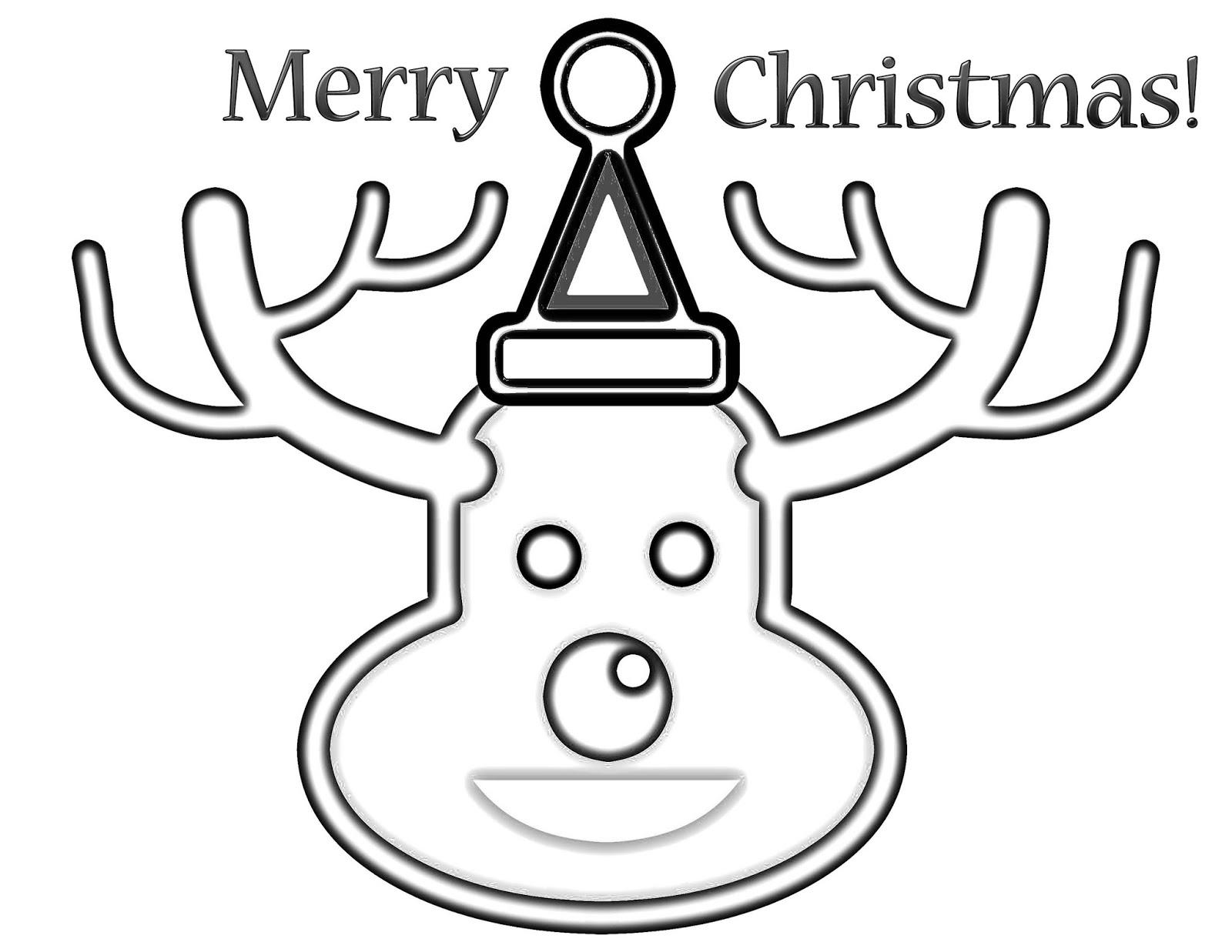 CJO Photo: Christmas Coloring Page: Christmas Reindeer