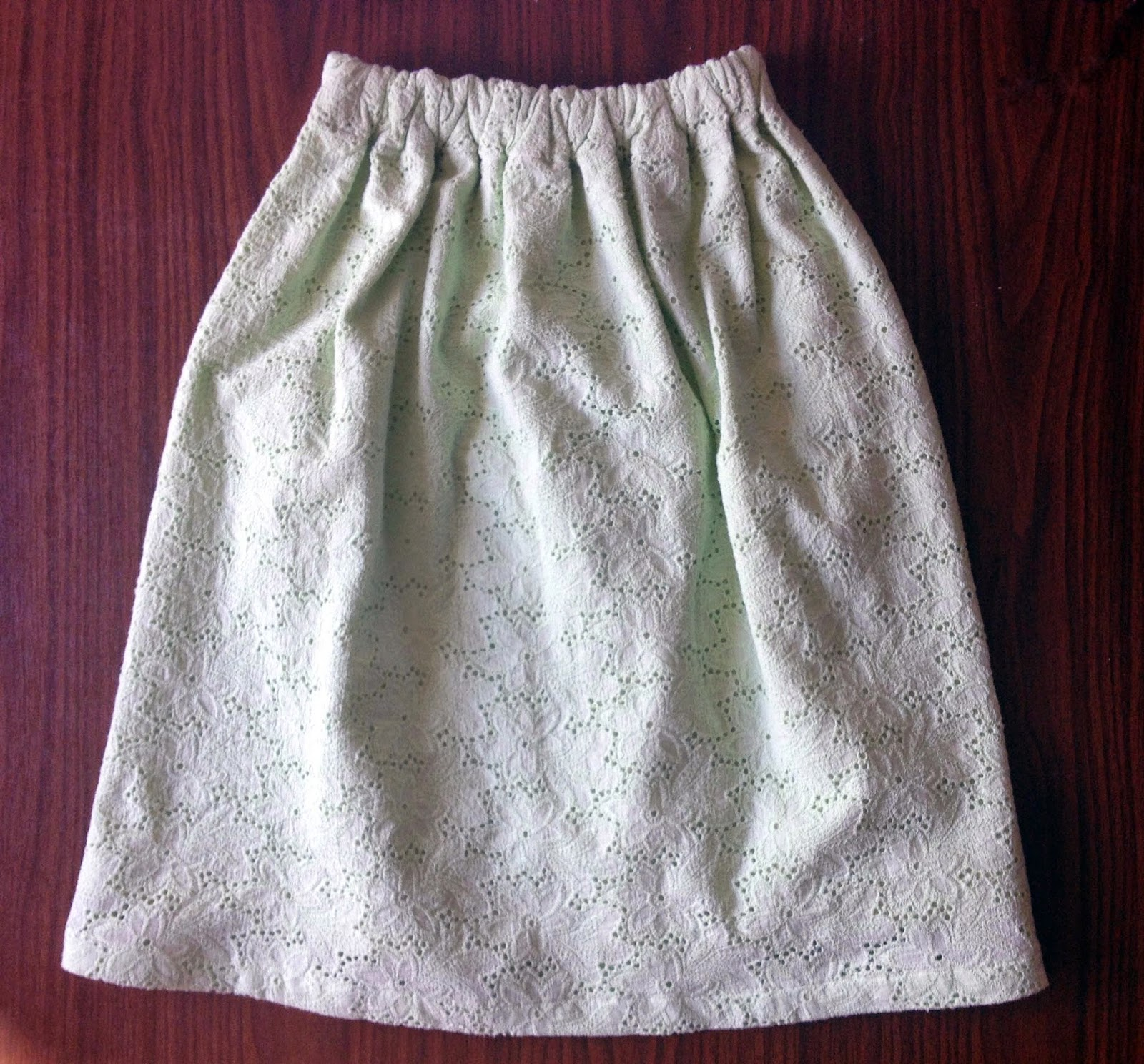 Пошив юбки на резинке широкой