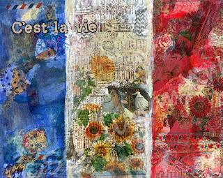 flag art, flag of france