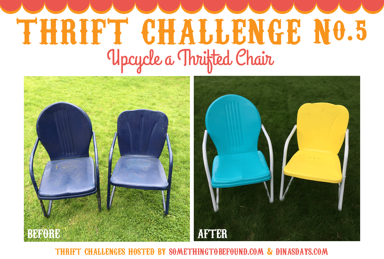 I Bought These Two Vintage Metal Outdoor Chairs (aka Motel Chairs) Off  Craigu0027s List Last Summer For $25 Total! I Gently Sanded The Areas With Rust  Or ...
