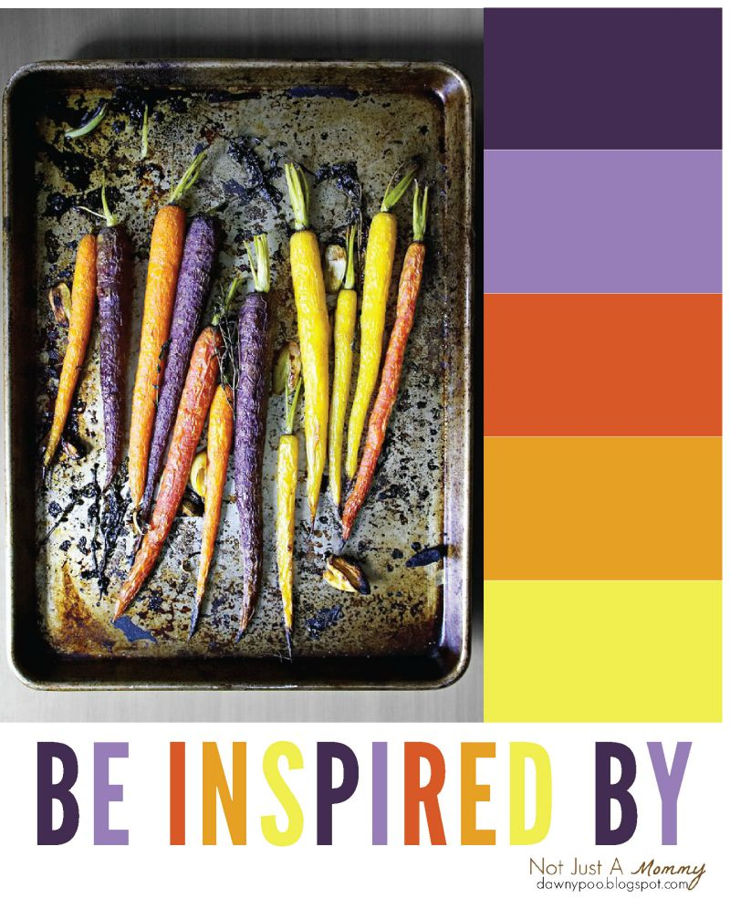 Be inspired by the party palette of roasted multi-colored carrots