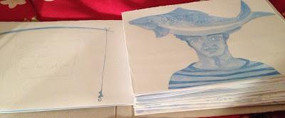 """* Boceto/s del nuevo libro """" Proyecto de mar"""". Ediciones Orillera 2013."""