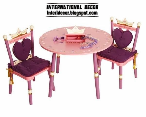 childrens table and chair set in purple for girls