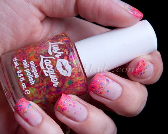 KellieGonzo: Guest Post by ChitChat Nails: Neon Glitter Tips