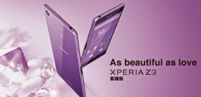 "Sony Epxeria versi ""Purple Diamond"""