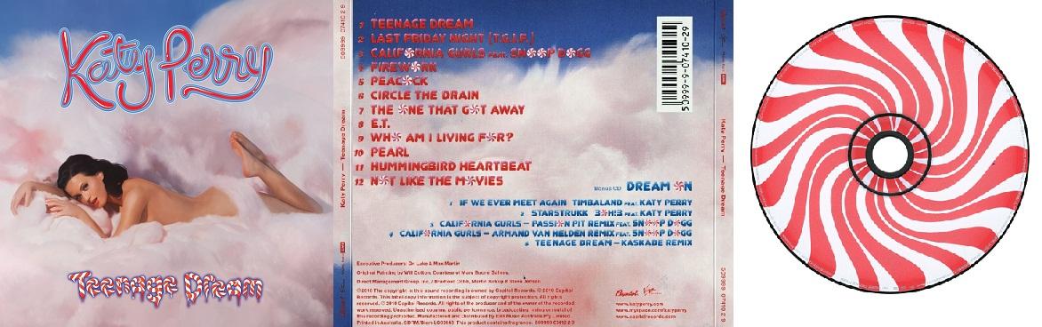 Katy perry teenage dream album back