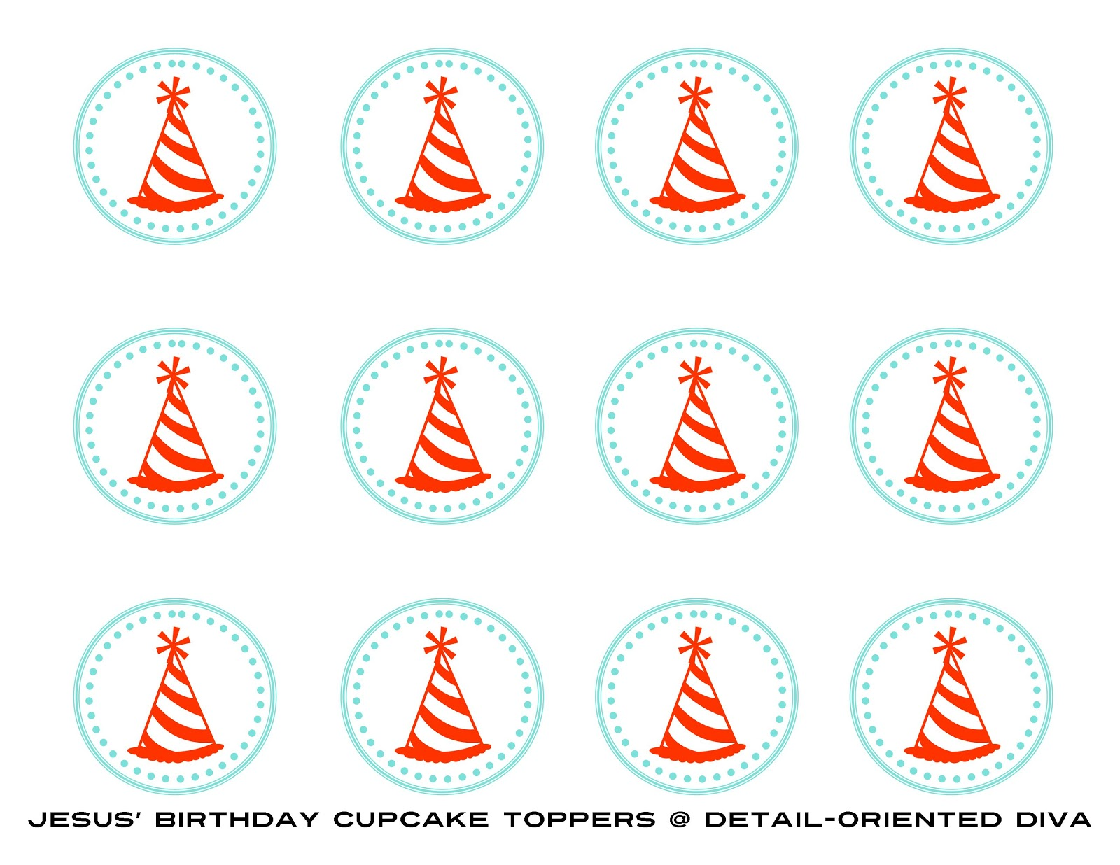 detail oriented diva a birthday party for jesus cupcake toppers thursday 29 2012
