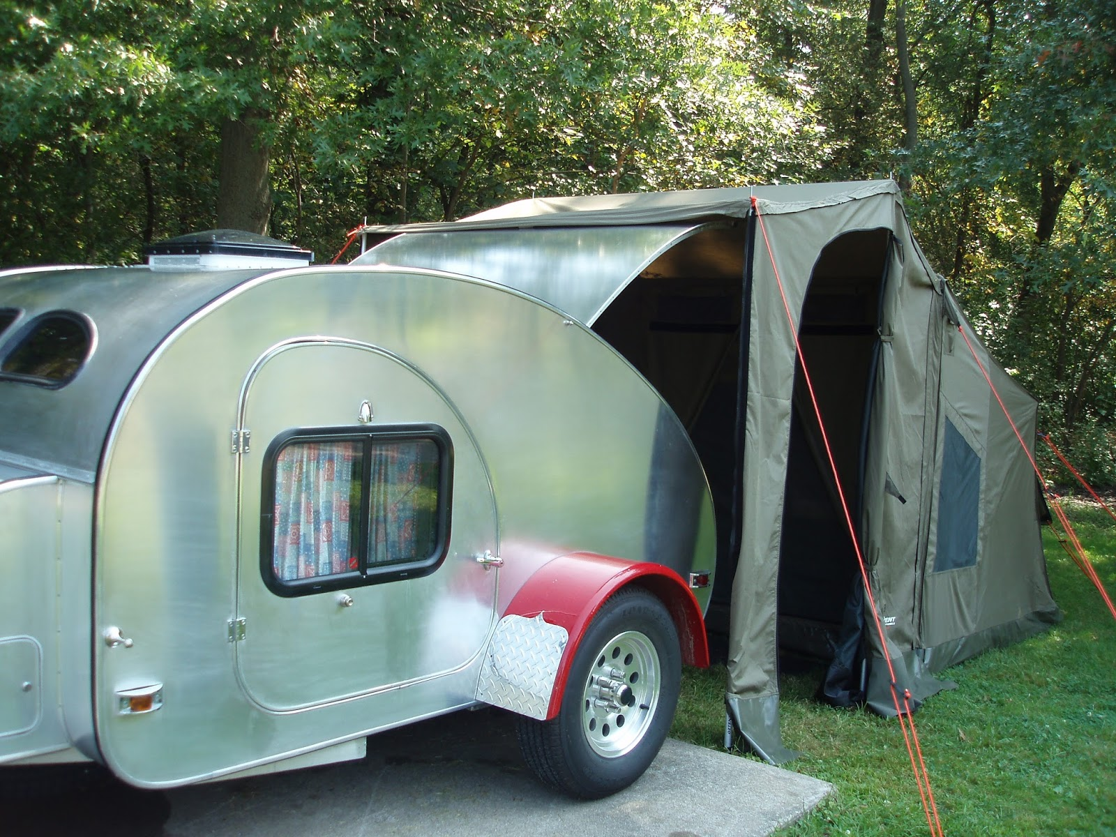 Family Tent Camping Oztent The Perfect Teardrop Trailer