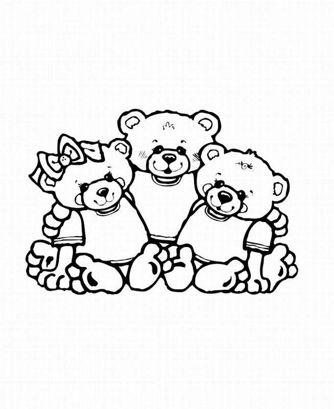 Bears Coloring title=