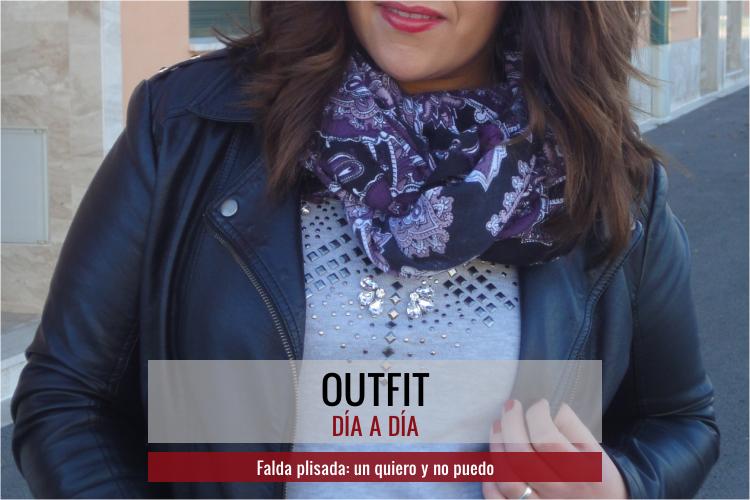 Outfit Falda plisada: un quiero y no puedo