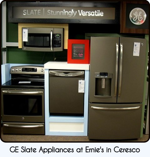 "ernie's in ceresco: slate - the new ""it"" color for appliances"