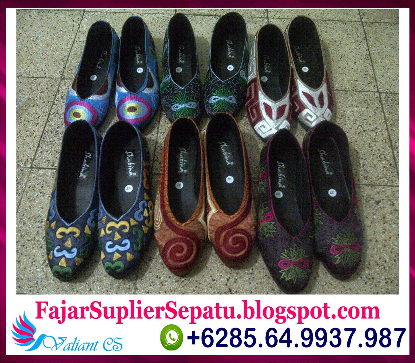Sepatu Bordir Murah, Sepatu Bordir Bangil, Sepatu Bordir Bali, +62.8564.993.7987