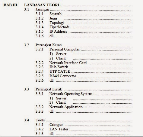 Prakerin Kelas XI; BAB III - LANDASAN TEORI ~ blog pabudira