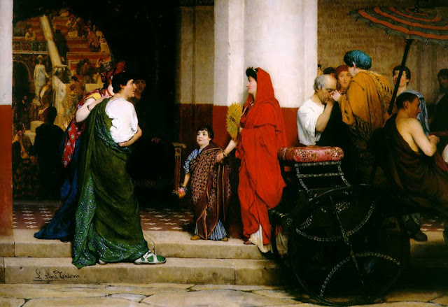 genre painting,ancient rome,Roman theater