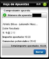 Apuestas Rosberg Fútbol– Europa League Athletic de Bilbao-Lokomotiv Moscow Titanbet