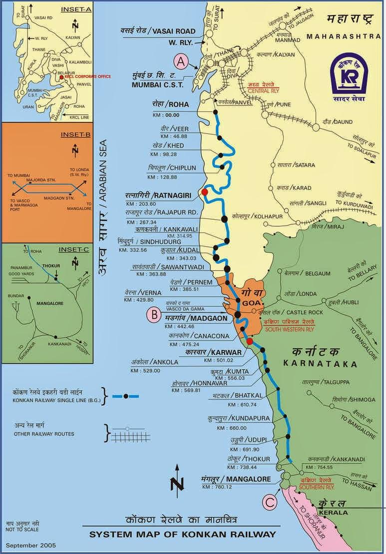 Konkan Railway route