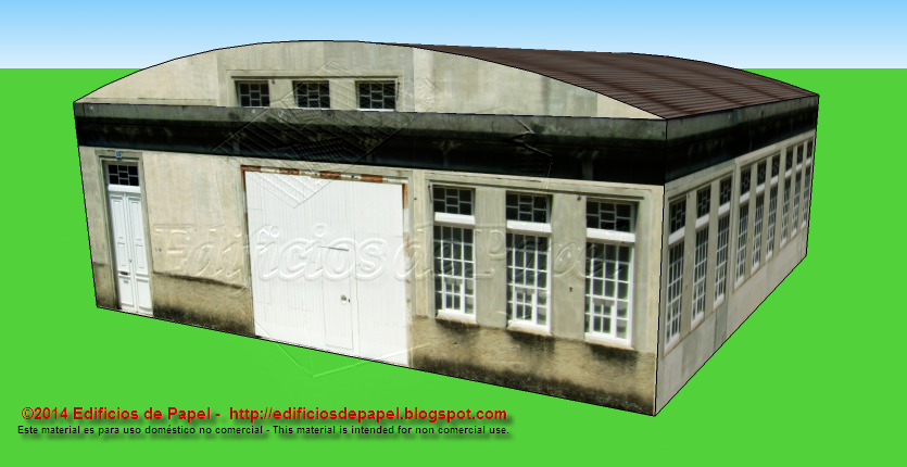 Front face of the depot paper model