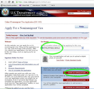 US Embassy Website