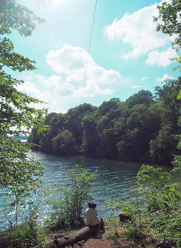 romantic lake europe