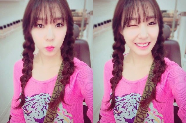snsd tiffany greets fans with her cute selca pictures