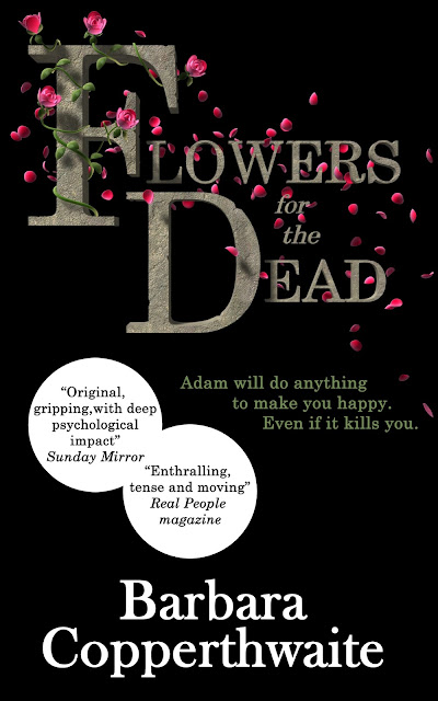 Book cover Flowers for the Dead by Barbara Copperthwaite