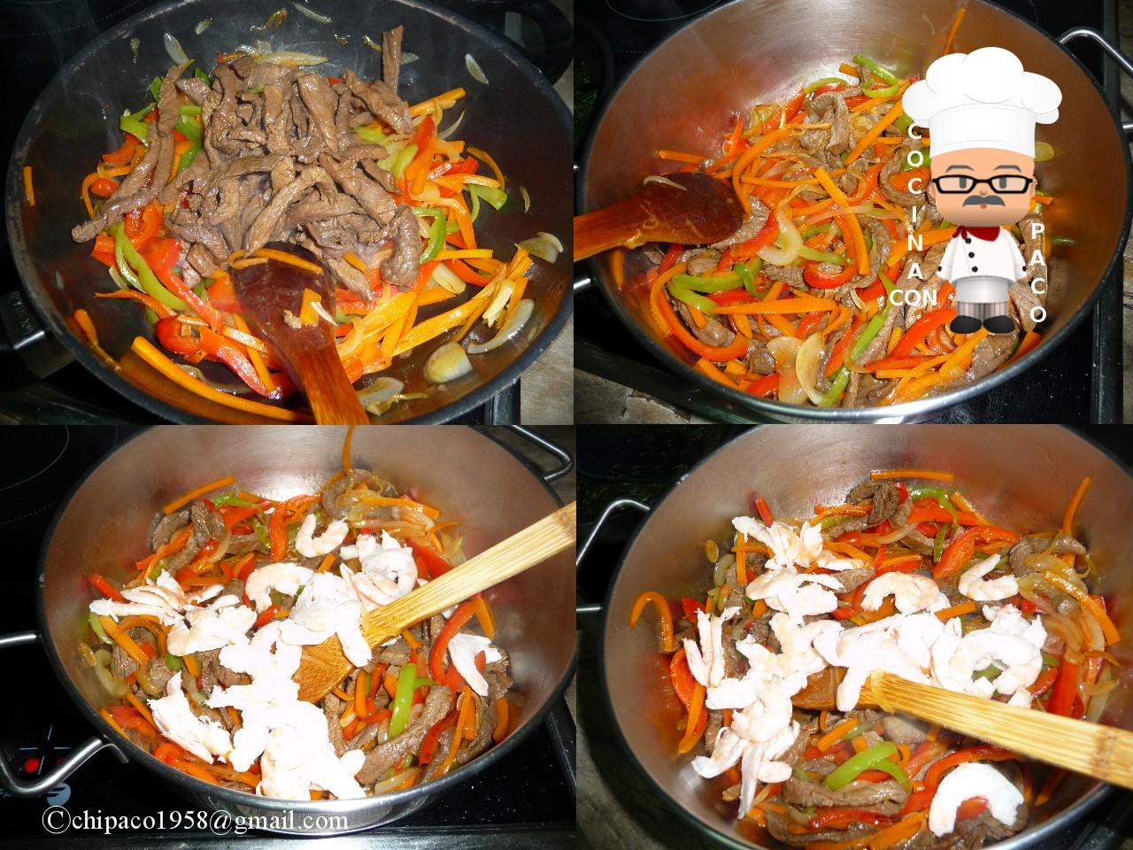 Cocina con paco tallarines tres delicias - Cocina con paco ...