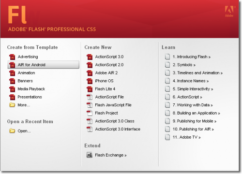 myflashtutorial - free flash tutorial: early interaction with adobe, Flash Cs5 Presentation Template, Presentation templates