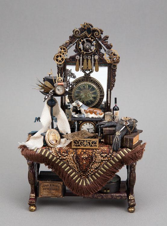 Good sam showcase of miniatures at the show steampunk - Steampunk mantle clock ...