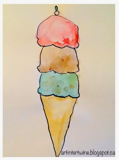 Art Intertwine - Watercolour Ice Cream Cones