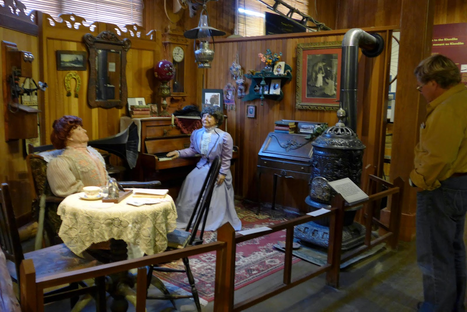 Display inside the Dawson City Museum