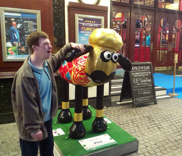 The brother with a Shaun the Sheep in Bristol
