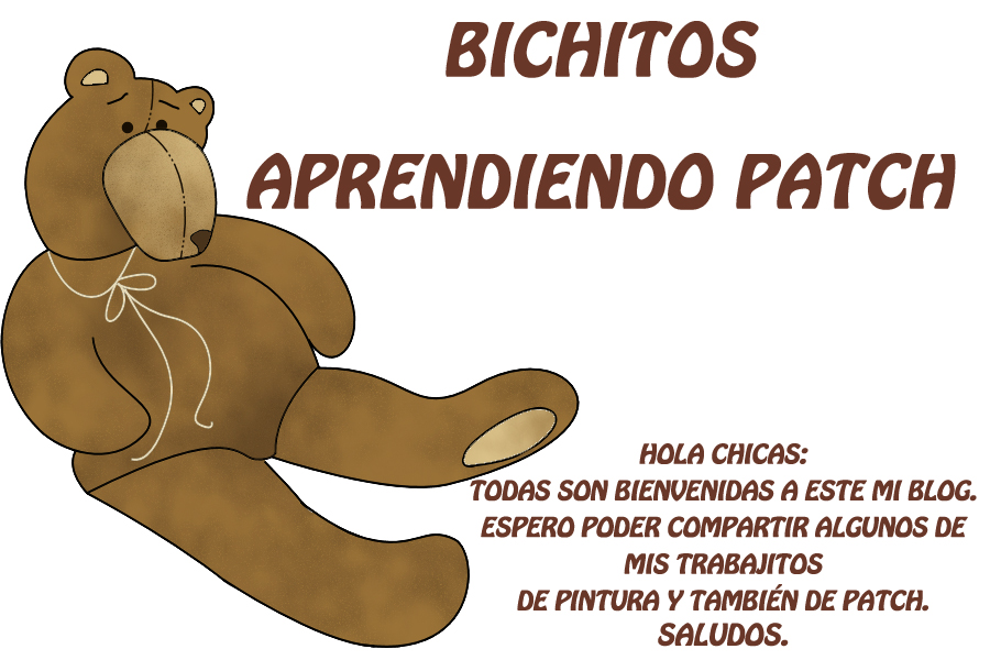 BICHITOS APRENDIENDO PATCH