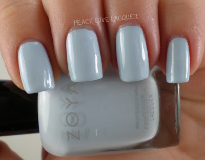Zoya, Lovely, Baby Blue, Cream