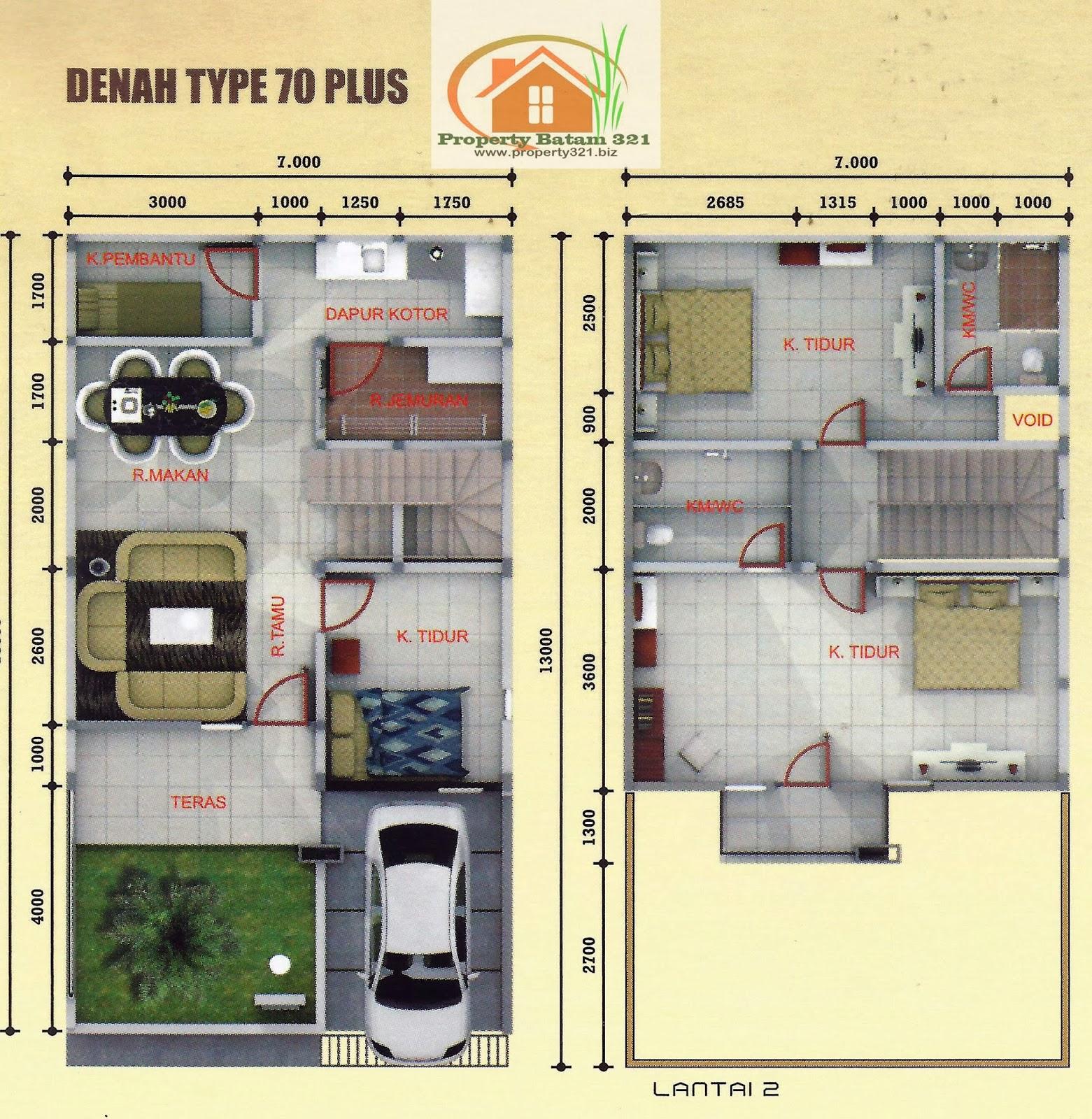 Contoh Rumah Tipe36 45 100