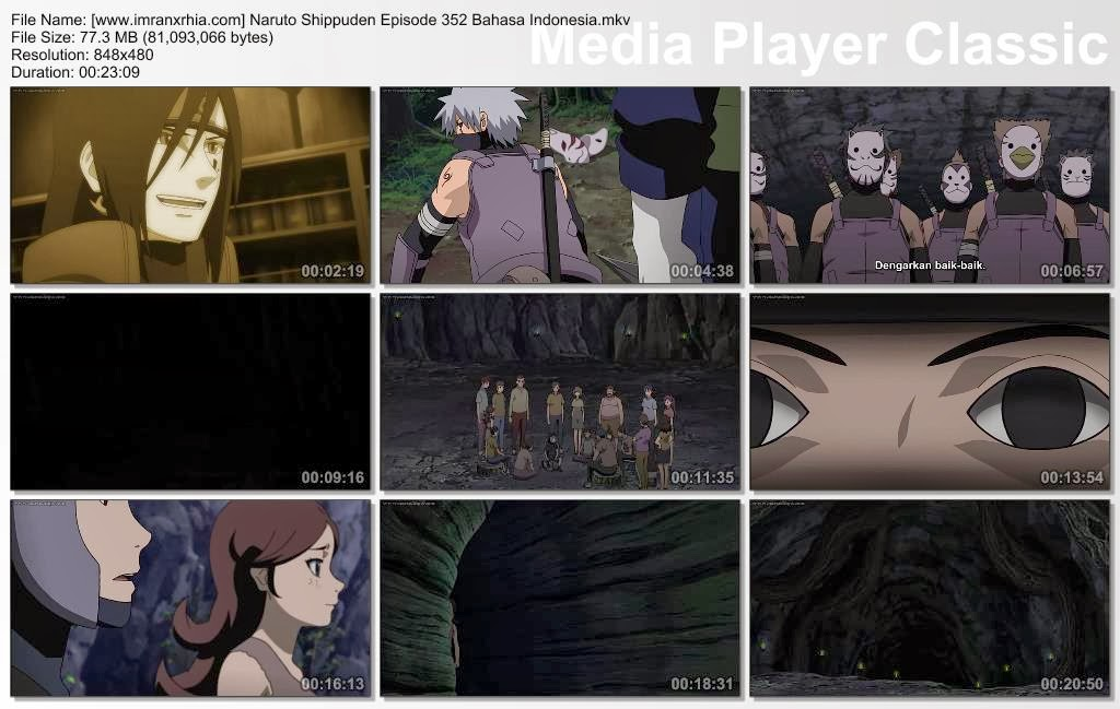 "Download Film / Anime Naruto Episode 352 ""Ninja pelarian, Orochimaru"" Shippuden Bahasa Indonesia"
