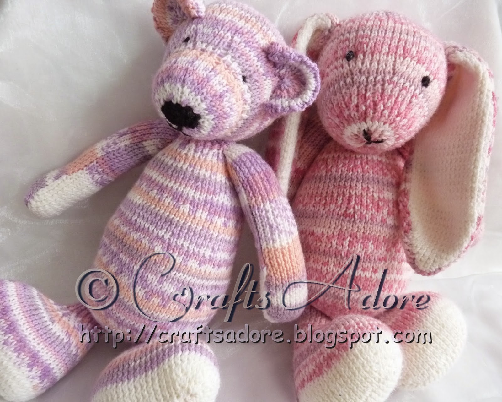 CraftsAdore: Adorable Knitted Sirdar Snuggly Teddy Bear