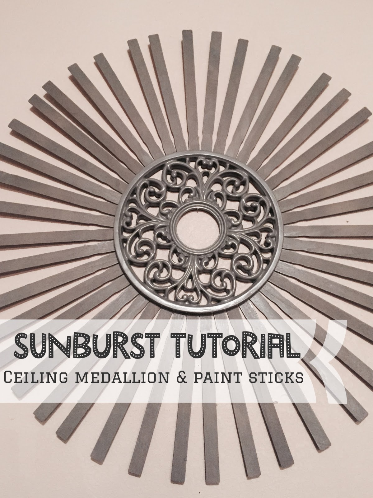 Sunburst Tutorial, Sunburst DIY, How to make a sunburst