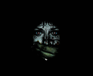 Mysterious Face Dark Gothic Wallpaper