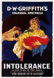 Poster for D.W. Griffith's film 'Intolerance'