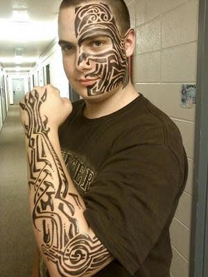arm tattoos - Art mix