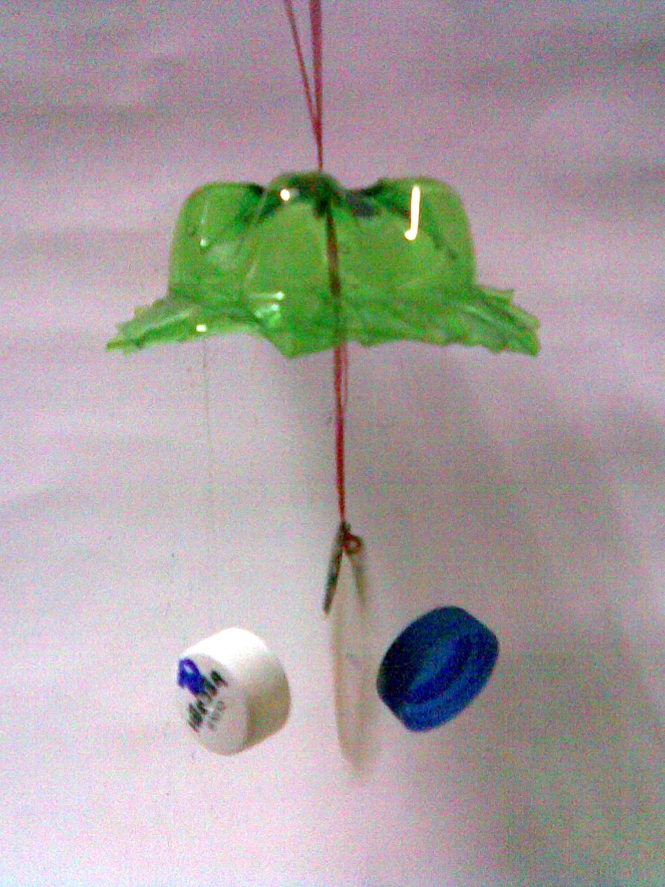 กระดิ่งลมจากวัสดุเหลือใช้  ,จากกระป๋อง ,จากขวดพลาสติกใช้แล้ว,กระดิ่งลมจากขวดพลาสติก กระป๋อง