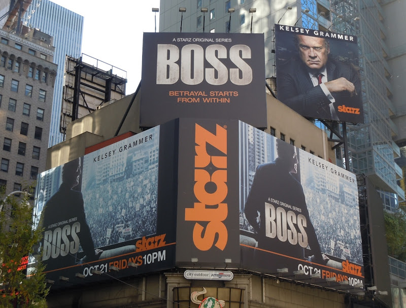 Kelsey Grammer Boss billboards NYC