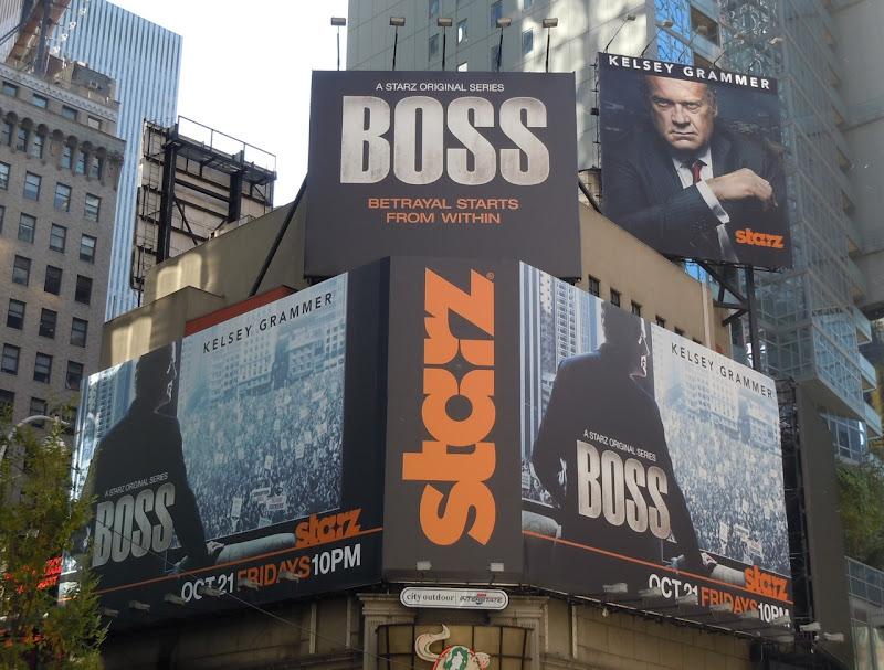 Kelsey Grammer Boss billboards NYC