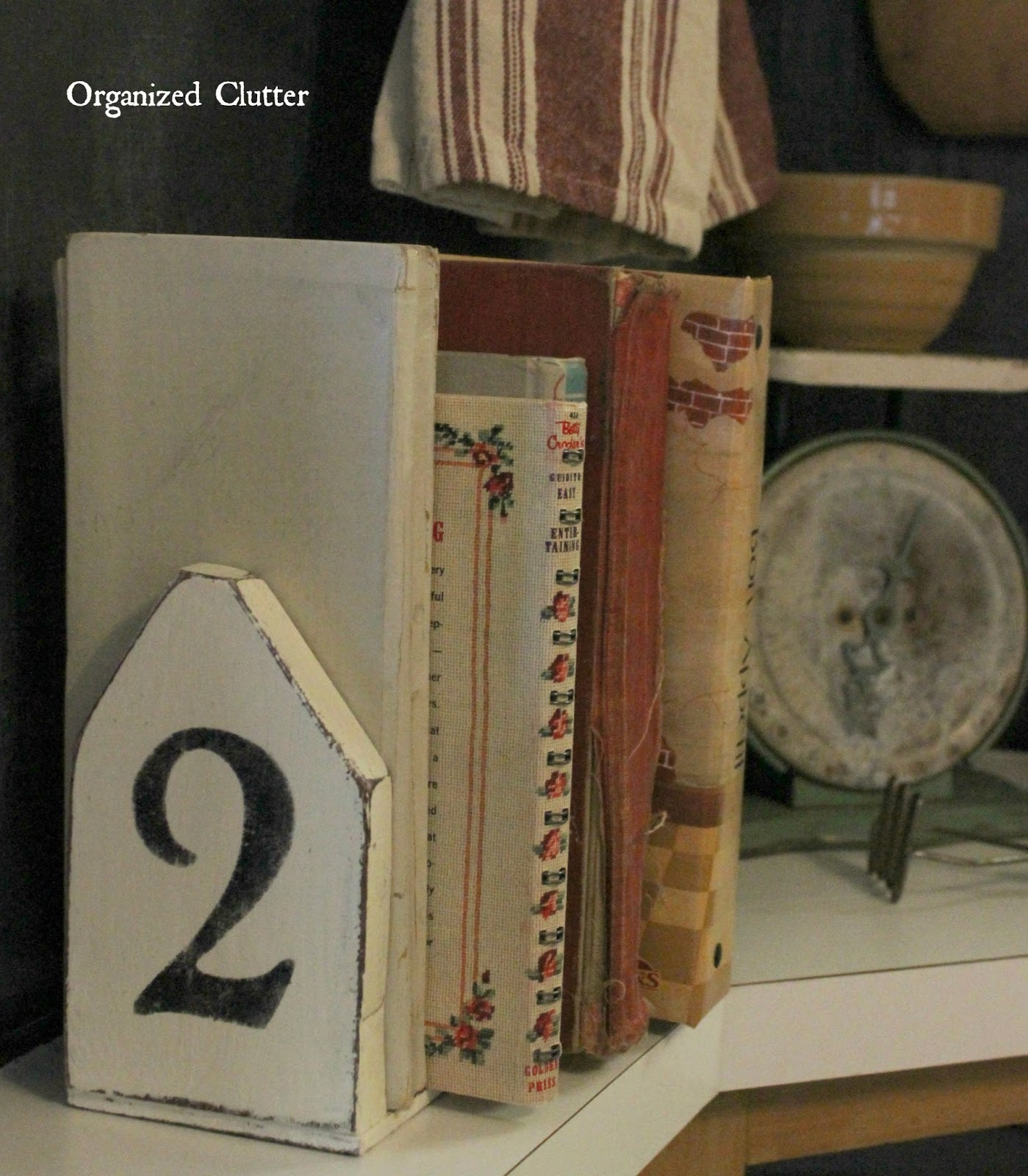Updating garage sale bookends with paint numbers for Perfect kitchen number